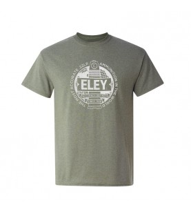 ELEY logo unisex warm gray t-shirt front