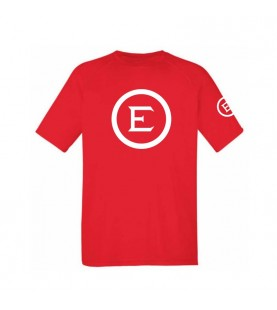 ELEY logo unisex red t-shirt front