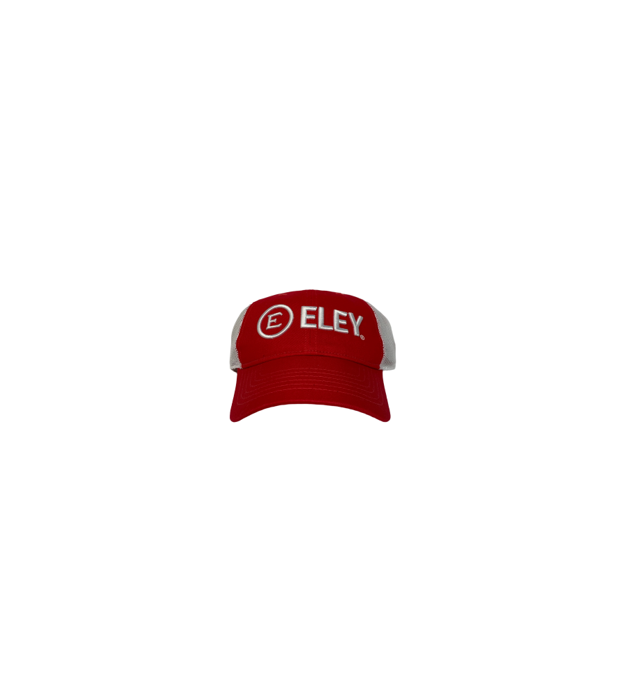 ELEY Red Snapback Cap front view