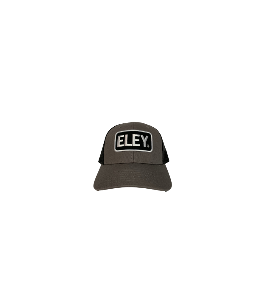 ELEY black gray cap front view