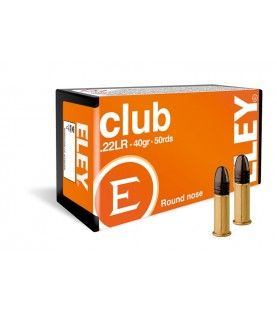 ELEY club .22lr 40gr box of 50 rimfire cartridges