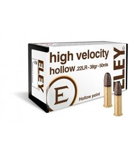 ELEY high velocity hollow point .22lr 38gr 50 pack