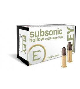 ELEY subsonic hollow point .22lr 40gr 50 pack for hunting