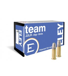 ELEY team .22lr ammunition box of 50 rimfire cartridges
