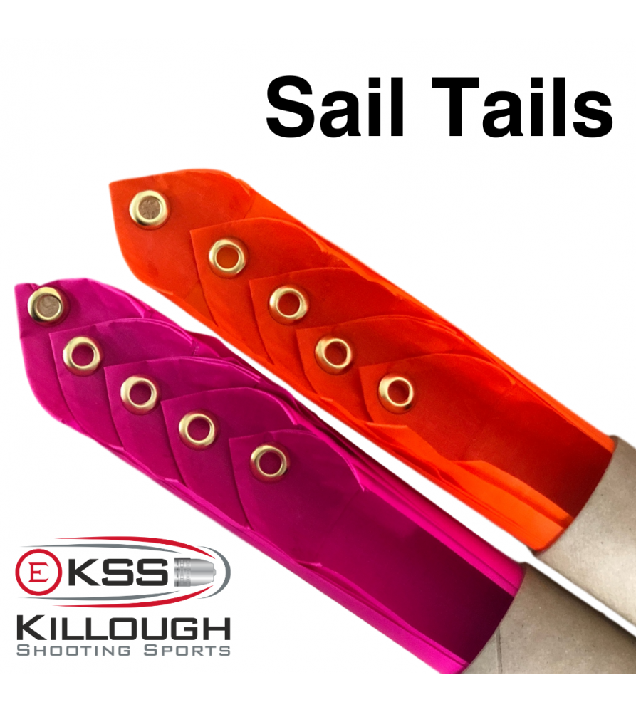 Fluorescent Pink Set of 5 - Sail Tails  - 1