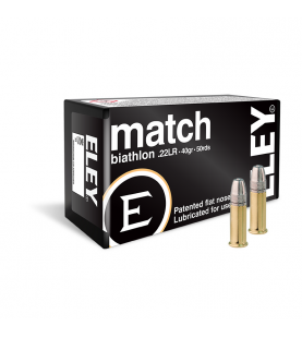 ELEY match biathlon .22lr box of 50