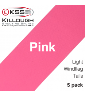 Light Windflag Tail-Pink 5/pkg