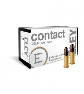 ELEY Contact .22lr Subsonic 42g Rimfire Cartridge