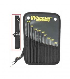 Wheeler 9 Piece Roll Pin punch Set with Storage Pouch
