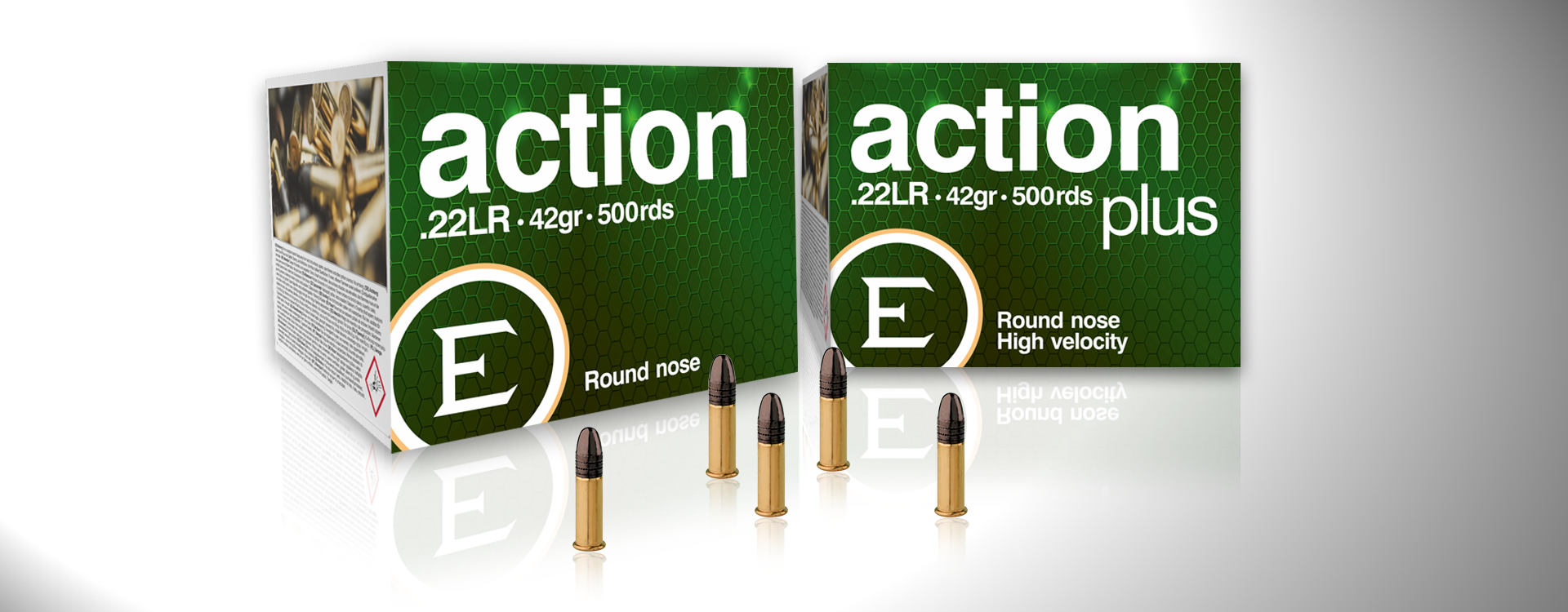New action and action plus 42g rimfire ammunition by ELEY.