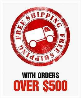 Free Shipping with orders over $500